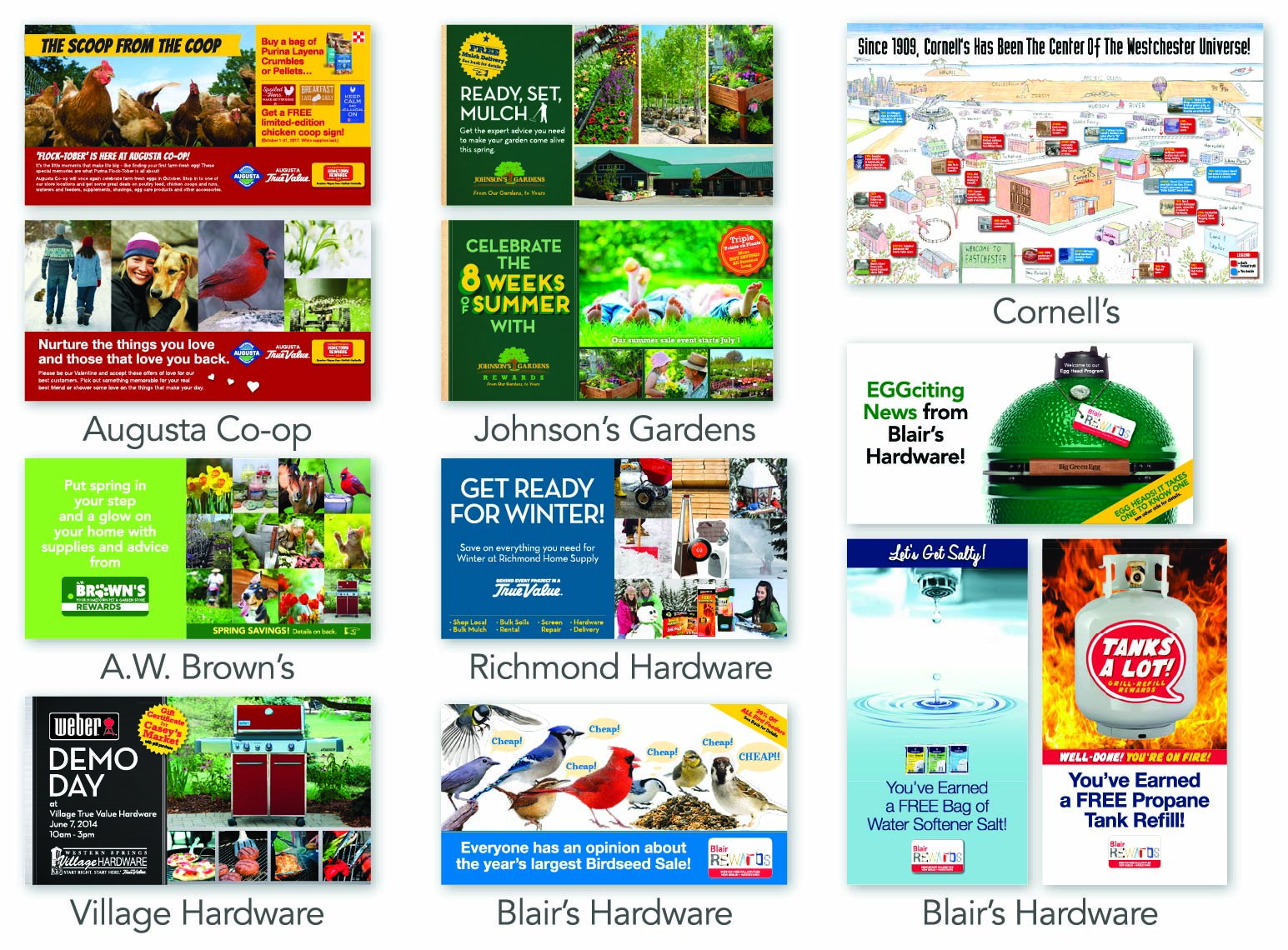 True Value Direct Mail examples